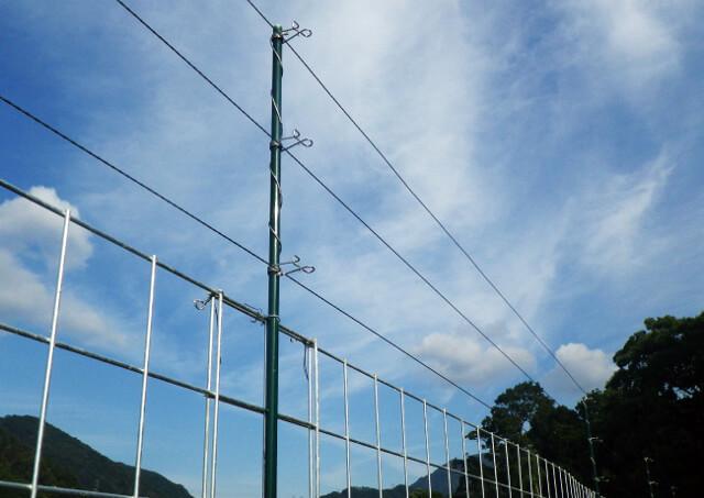 電気柵で猿の進入防止できる「キャムズ」のアイテム